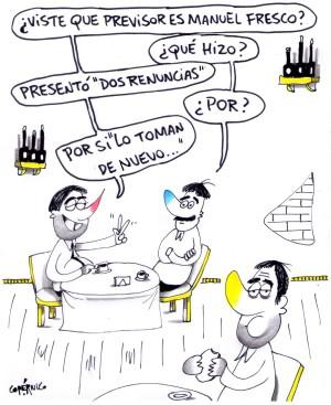 MANUEL FRESCO RENUNCIA HUMOR PERIODICO SIC