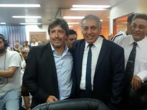 """Miguel Racanelli y Abrahan """"Toto"""" Delgado, el PRO en el Concejo Deliberante."""