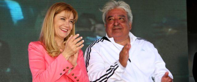 Día del Empleado de Comercio: Verónica Magario y Julio Ledesma en el escenario principal.