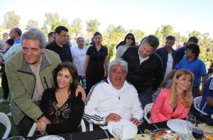 Mirta Tundis fue parte del almuerzo junto a Ledesma y Magario